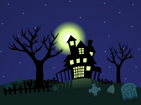 Halloween night - scary, gothic, horror, halloween