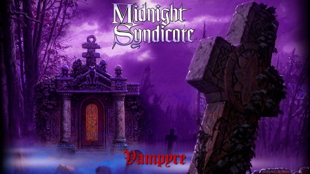 Midnight Syndicate - art, cemetery, gothic, music, vampire, horror, night, mist