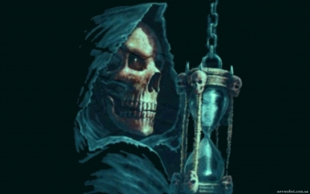 Death With The Hourglass Fantasy Abstract Background