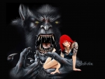 The red-haired tattooed girl and the monster