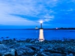 Lighthouse in Blue Evening