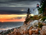 Light House on Rocks