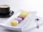 Macaroon And Hot Chocolate