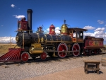 Steampunk Vintage Train Locomotive Railway