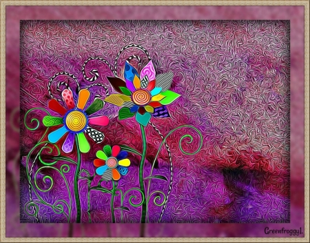 Mystical Flowers 3d And Cg Abstract Background