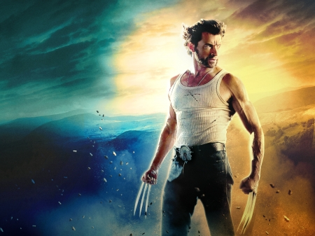 Wolverine - hugh jackman, poster, fantasy, wolverine, movie, comics, man