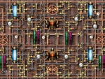 Steampunk pipes background-1
