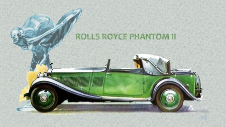 1929 Rolls Royce Phantom 2 art - Rolls Royce wallpaper, Rolls Royce Desktop background, Rolls Royce, Rolls Royce Automobile, Rolls Royce cars