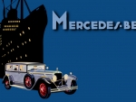 Mercedes Benz 1930s ad art