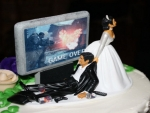 Video Games Wedding Cake