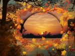 Autumn Sunset Collage