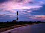Colorful Twilight Sky over Lighthouse