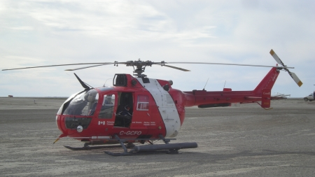 MBB Bo 105 at Cambridge Bay Airport - Airport, Helicopter, Cambridge Bay, MBB Bo 105