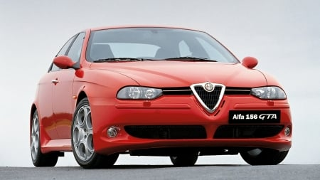 2002 Alfa Romeo 156 GTA - Red, Alfa Romeo, Car, 156 GTA