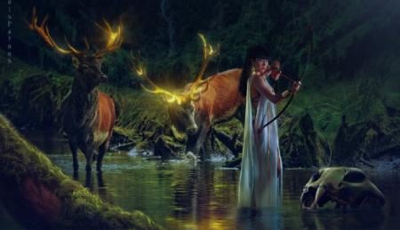 Beautiful Fantasy Deer Art