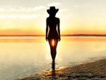 Cowgirl Silhouette . .