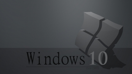 Windows 10 Flat Gray - windows, wallpaper 1920x1080, wallpaper gray, windows 10
