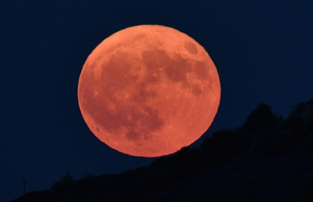 August full moon - 26 August 2018, Greece, Moon, Full moon