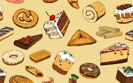 Texture - donut, pattern, bakery, cake, sweets, chocolate, texture, paper
