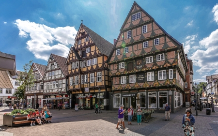 Celle, Germany - Germany, street, houses, town