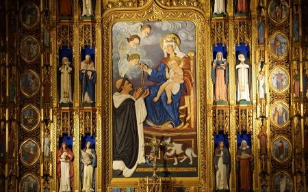 Mary Saints And Rosary