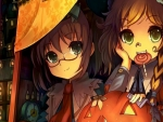 Glasses Girls And Pumpkins
