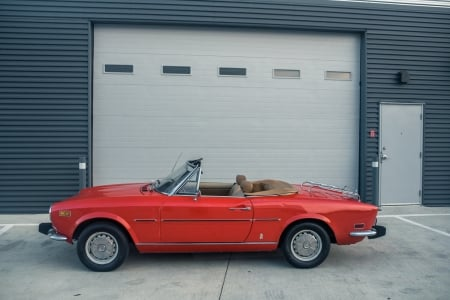 1974 Fiat 124 Sport Spider 1800 - Old-Timer, Fiat, Sport, Convertible, Red, Car, Spider 1800, 124