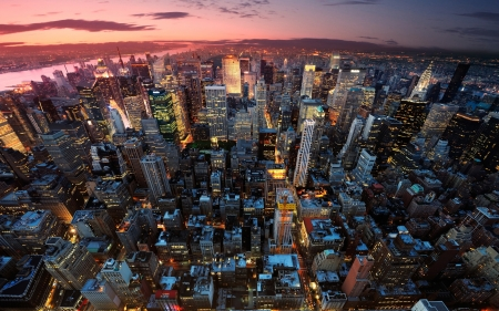 New York City Sunset Skyscrapers Architecture Background Wallpapers On Desktop Nexus Image 2417359