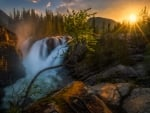 Waterfall in the Sunrise