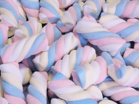 Marshmallow Twists Candy - Abstract, Photography, Marshmallow, Twist Candy
