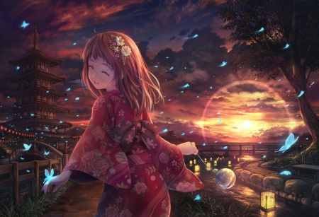 Japanese Girl Other Anime Background Wallpapers On