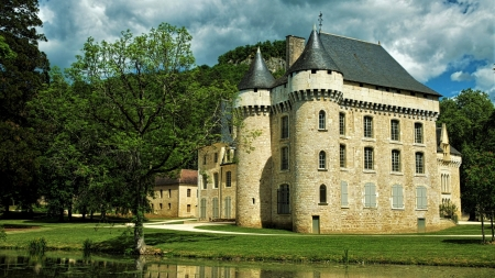 Chateau de Puymartin in France - France, Puymartin, Chateau, Castle, Building