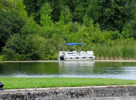 River Boat - Forest, River, Nature, Boat, Summer, Photography