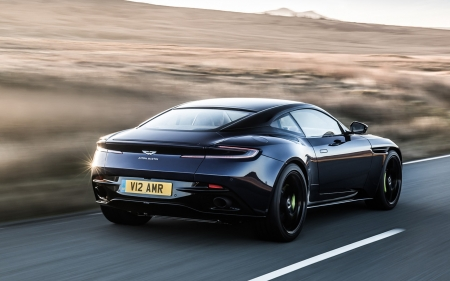Aston Martin DB11 AMR 2019 - cars, aston martin, black cars, vehicles, rear view