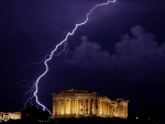 Lightning in Greece