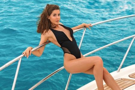 sybil a Swimsuit Model Sybil A on a Yacht
