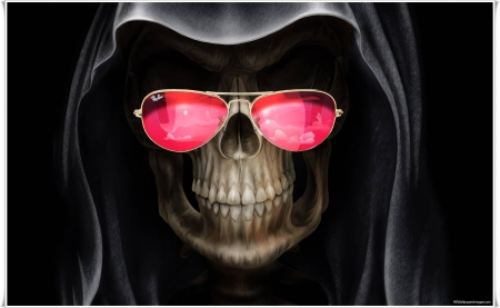 Reaper with Glasses - shop, photo, reaper, pink, glasses
