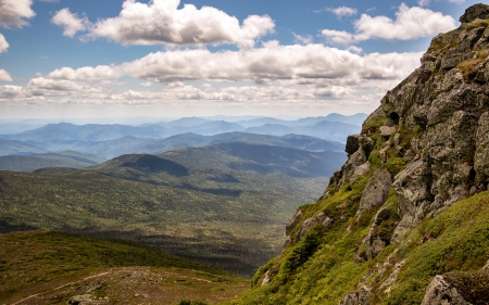 Mount Monroe, USA - America, clouds, landscape, mount