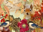 Squirrel & Chickadee Fall