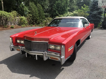 1976 Cadillac Eldorado Convertible Cadillac Cars Background