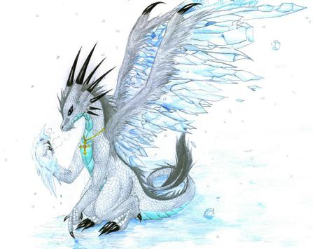 Ice Dragon  - ice, fantasy, fun, dragon
