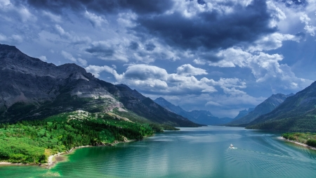 Waterton Lakes National Park in Canada - Clouds, Canada, Sky, Mountain, Lakes, National, Park, Waterton