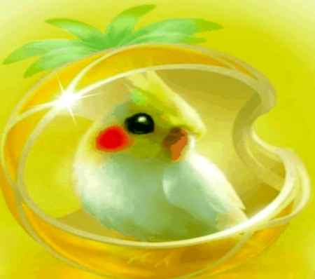 Yellow Fantasy Pet - Yellow, Bird, Fantasy, Pet