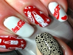 Coke Cola Nail Art
