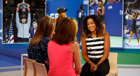 Excitement of her first - sequenced blouse, interview, Today Show, US Open, Naomi Osaka, vibrant