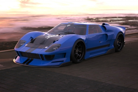 Modified Ford GT - gt, cars, sunset, ford