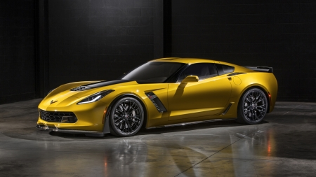 2015 Corvette Z06 - Chevrolet, Corvette, Yellow, Sport, Car, Z06