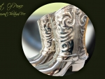 Silver Decoration Cowboys Boots