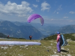 Paragliders at Start