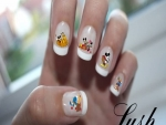 White Tip Autumn Nail Art